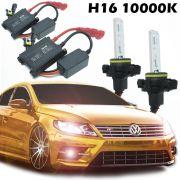 Kit Xenon Automotivo Hid H16 10000K Carro Farol Par Lâmpadas 12V 35W Milha