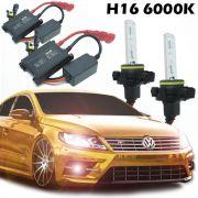 Kit Xenon Automotivo Hid H16 6000K Carro Farol Par Lâmpadas 12V 35W Milha