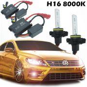 Kit Xenon Automotivo Hid H16 8000K Carro Farol Par Lâmpadas 12V 35W Milha