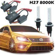 Kit Xenon Automotivo Hid H27 8000K Carro Farol Par Lâmpadas 12V 35W Milha