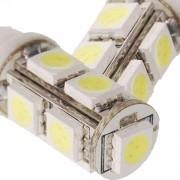 Lâmpada Led 12V T10 Importado 9 Leds (Par) Amarelo