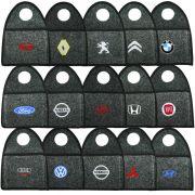 Lixeira Lixinho Automotiva Carro Carpete Logo Bordado para Câmbio Grafite
