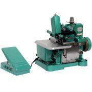 Máquina de Costura Overlock Overloque 220V Semi Industrial Portátil Importway IWMC-5062 Verde