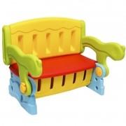 Mesa Mesinha Infantil Plástico 3 em 1 Banco Baú Cadeira Importway IWMI-3X1 Colorido