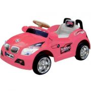 Mini Carro Elétrico Infantil 6V Importway BW001-R Rosa