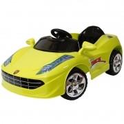 Mini Carro Elétrico Infantil Criança Bateria 6V Importway Ferrari Verde BW005-VD Bivolt