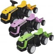 Mini Carro Trator com Reboque Caçamba Elétrico 6V Infantil Criança Bateria Brinqway BW-079 Bivolt