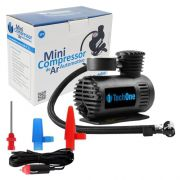 Mini Compressor de Ar Automotivo Portátil 12V Tech One 300 Psi com 3 Adaptadores