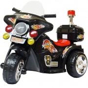Mini Moto Elétrica Triciclo Criança Infantil Bateria 6V Importway BW006-PR Preta Polícia Bivolt