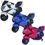Mini Moto Elétrica Triciclo Criança Infantil Bateria 6V Luz Som Importway BW044 Bivolt