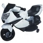 Mini Moto Elétrica Triciclo Criança Infantil Branca Bateria 6V Luz Som Importway BW044 Bivolt