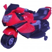 Mini Moto Elétrica Triciclo Criança Infantil Vermelha Bateria 6V Luz Som Importway BW044 Bivolt
