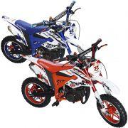 Mini Moto Infantil Partida Elétrica Gasolina 2T 49CC Cross Trilha Off Road Importway WVDB-005