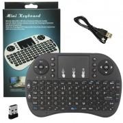 Mini Teclado Mouse Sem Fio Touchpad Wireless Wifi Android Tv Usb Ps3 Xbox Preto