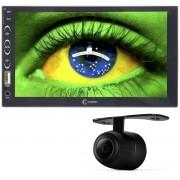 Multimídia Mp5 Vídeo Automotivo Player 2 Din Tela 7.0 Bluetooth Fm Usb Espelhamento Câmera Ré Cinoy