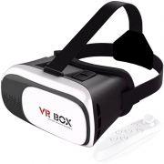 Óculos Vr Box 2.0 3D Realidade Virtual para Celular Smartphone Andoid e Ios + Controle Bluetooth