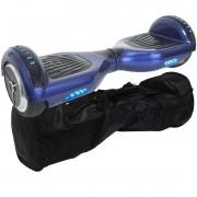 Overboard Skate Elétrico 2 Rodas 6,5 Polegadas Bluetooth Bateria Azul Bolsa Led