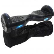 Overboard Skate Elétrico 2 Rodas 6,5 Polegadas Bluetooth Bateria Preto Bolsa Led