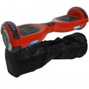 Overboard Skate Elétrico 2 Rodas 6,5 Polegadas Bluetooth Importway Bateria Vermelho Bolsa Led