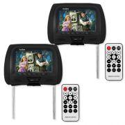 Par Encosto Cabeça Tela Monitor Usb SD IR Tech One Standard Preto