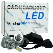 Kit Par Lâmpada Super Led Automotiva Farol Carro HB3 9005 6000 Lumens 12V 24V First Option 6000K