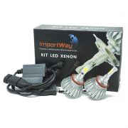Par Lâmpada Super Led 6000 Lumens 12V 24V 40W Importway H8 H9 H11 6000K