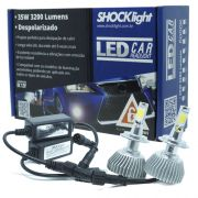 Par Lâmpada Super Led 6400 Lumens 12V 24V 35W Shocklight H7 6000K