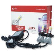 Par Lâmpada Super Led 7400 Lumens 12V 24V 40W Cinoy 3D H16 6000K