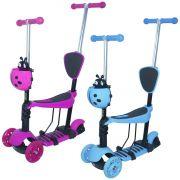 Patinete Infantil 3 Rodas 3x1 Scooter Cadeirinha Assento Empurrador Triciclo Importway BW-048