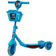 Patinete Infantil 3 Rodas Gel Musical Cesta Luzes Masculino Menino Azul Importway BW-010-AZ