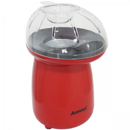 Pipoqueira Elétrica Sem Óleo Ar Quente Natural 1200W Derrete Manteiga Medidor Vermelha Amvox APC 027
