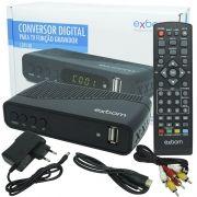 Receptor Conversor Tv Digital Full Hd Função Gravador Usb Hdmi Rca Exbom CDTV-30 com Filtro 4G