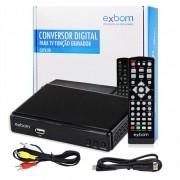 Receptor Conversor Tv Digital Full Hd Função Gravador Usb Hdmi Rca Exbom CDTV-20 com Filtro 4G