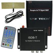 Receptor Tv Digital Automotivo Universal para Dvd Tay Tech 1 Seg com Antena e Controle