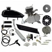 Super Kit Motor Bicicleta Motorizada Gasolina 80CC 2T 2 Tempos Completo Importway Barato Prata
