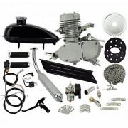 Super Kit Motor Bicicleta Motorizada Gasolina 80CC 2T Completo Prata Importway Barato
