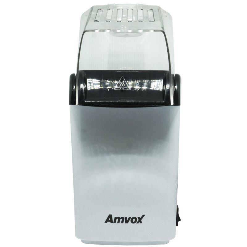 Pipoqueira Elétrica Sem Óleo 110V Derrete Manteiga Pipop Preta Branca Amvox APC 3406