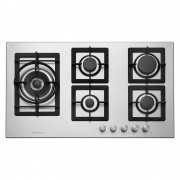 Cooktop a Gás 5 Queimadores 90 cm Quadratto CKG-5Q-90-XQ-3ZEA Elettromec