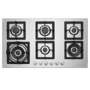 Cooktop a Gás 6 Queimadores 90 cm Quadratto CKG-6Q-90-XQ-3ZEB Elettromec