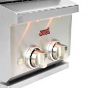 Cooktop Dominó a Gás 2 Queimadores 34 cm Embutir Side Burner Evol
