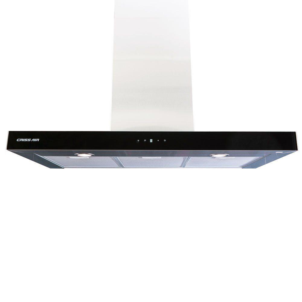 Coifa de Parede 90 cm Inox Cristal Preto CRR 07.9 G4 Crissair