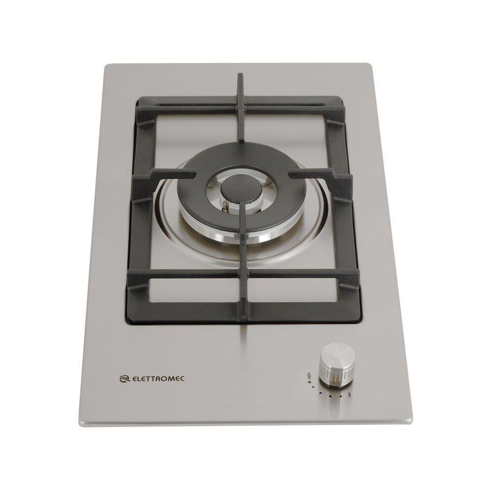 Cooktop Dominó a Gás Tripla chama Inox Quadratto Luce DG-1Q-30-XQ Elettromec