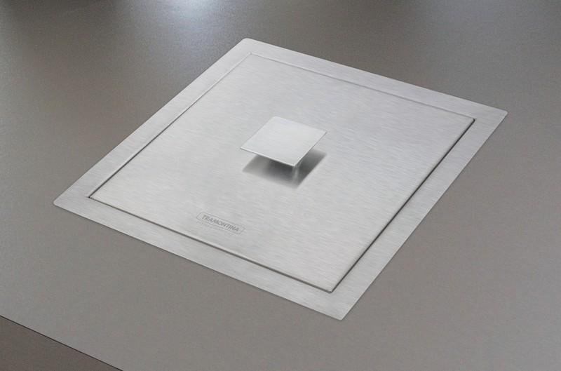 Lixeira de Sobrepor 5 L Quadrum Tramontina Design Collection