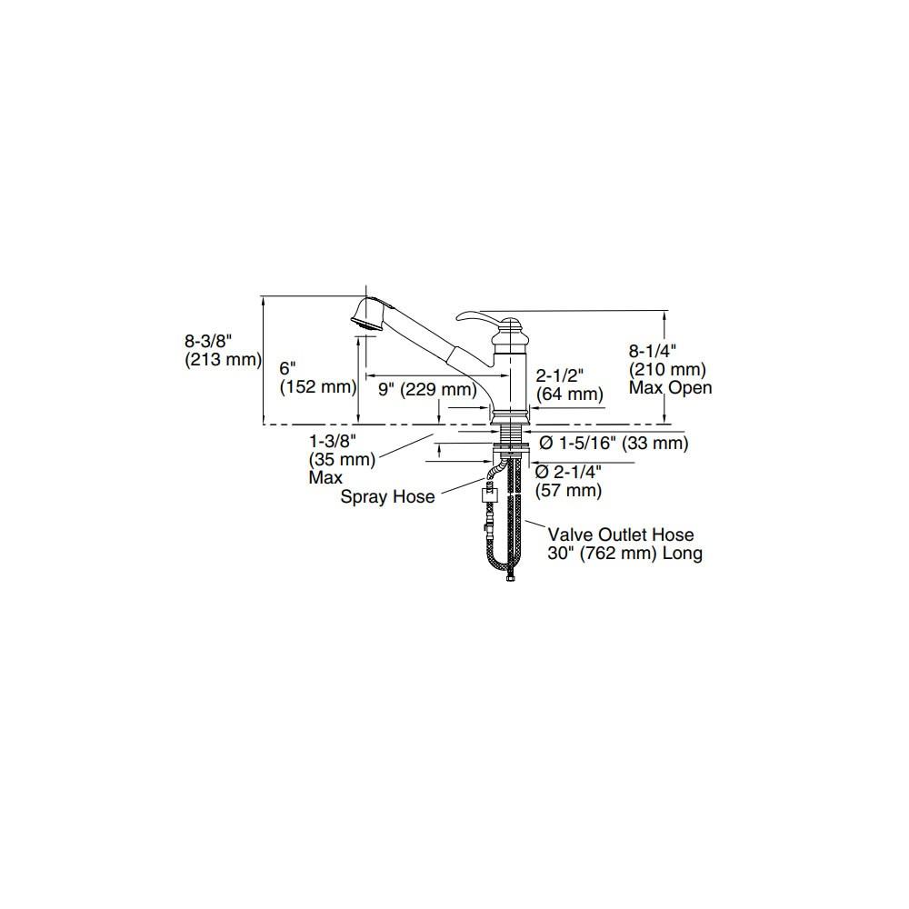 Misturador Monocomando de Bancada Fairfax 12177BR-B-CP Kohler