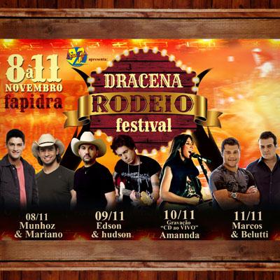 Dracena Rodeio Festival - 08 a 11/11 - Dracena - SP