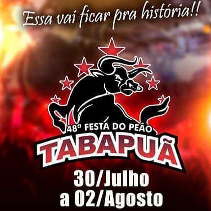48ª Festa do Peão de Tabapuã - 30/07 a 02/08/20 - Tabapuã - SP