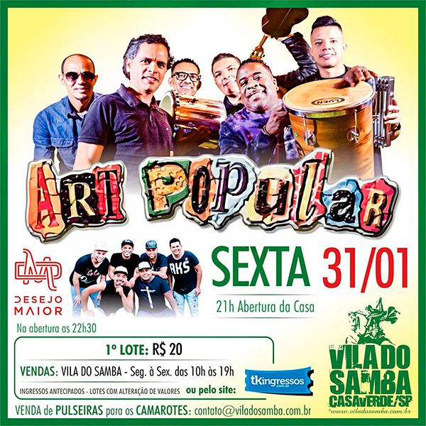 Art Popular - Vila do Samba - 31/01/20 - São Paulo - SP