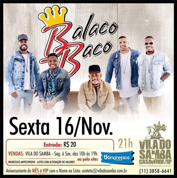 BalacoBaco - Vila do Samba - 16/11/18 - São Paulo - SP