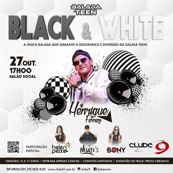 Balada Teen - Black & White - 27/10/19 - Indaiatuba - SP