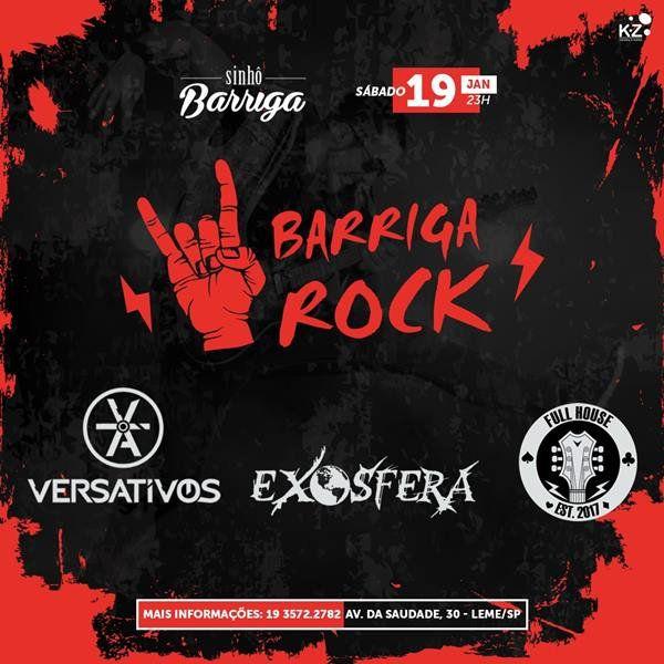 Barriga Rock - Sinhô Barriga - 19/01/19 - Leme - SP